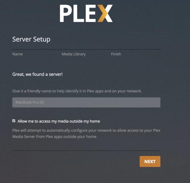 Create a plex server