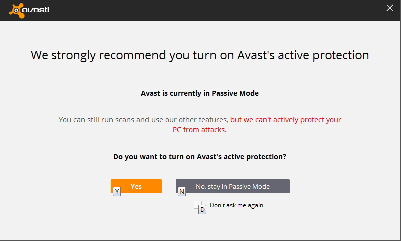 Choose active protection to fix the operation cannot be performed because the message has been changed problem