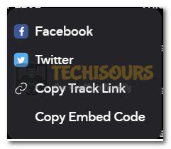 Copy Track Link