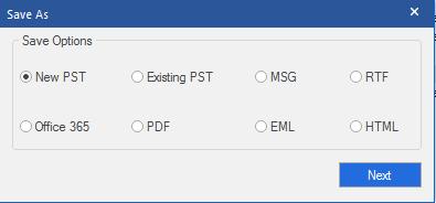 MBOX Saving Options