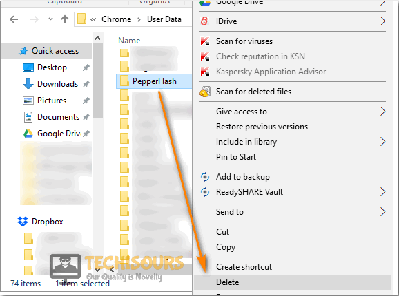 Delete PepperFlash Folder to fix couldn't load plugin issue