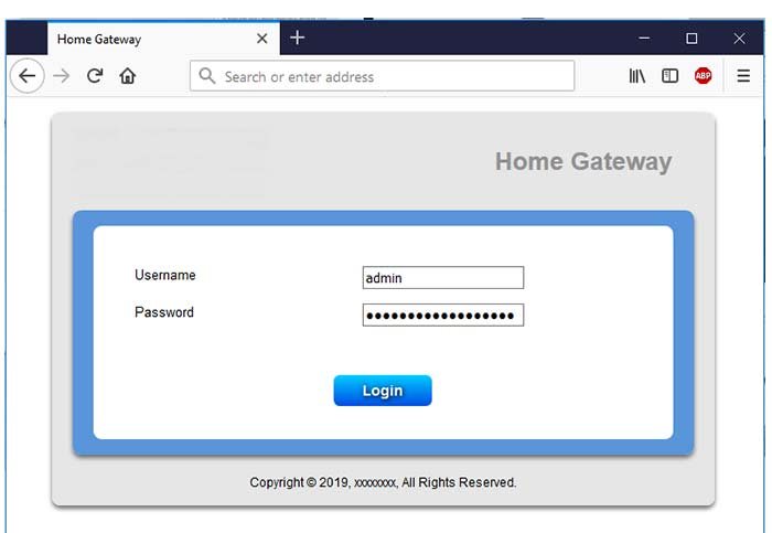 Login Your Router