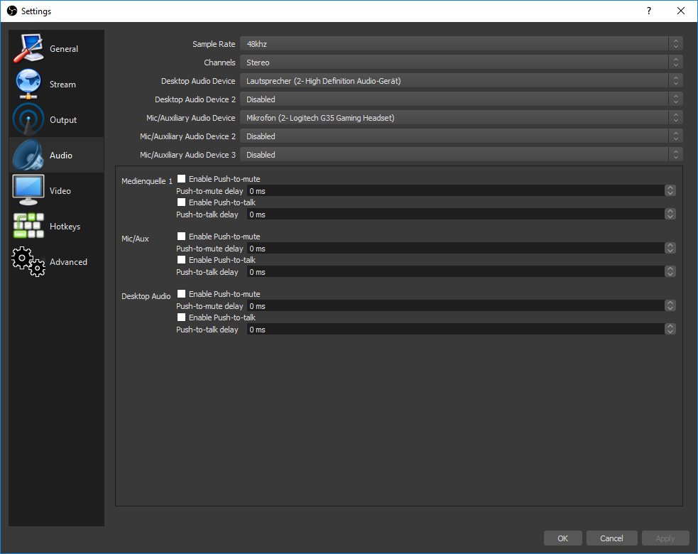 Choose Desktop Audio Device Option