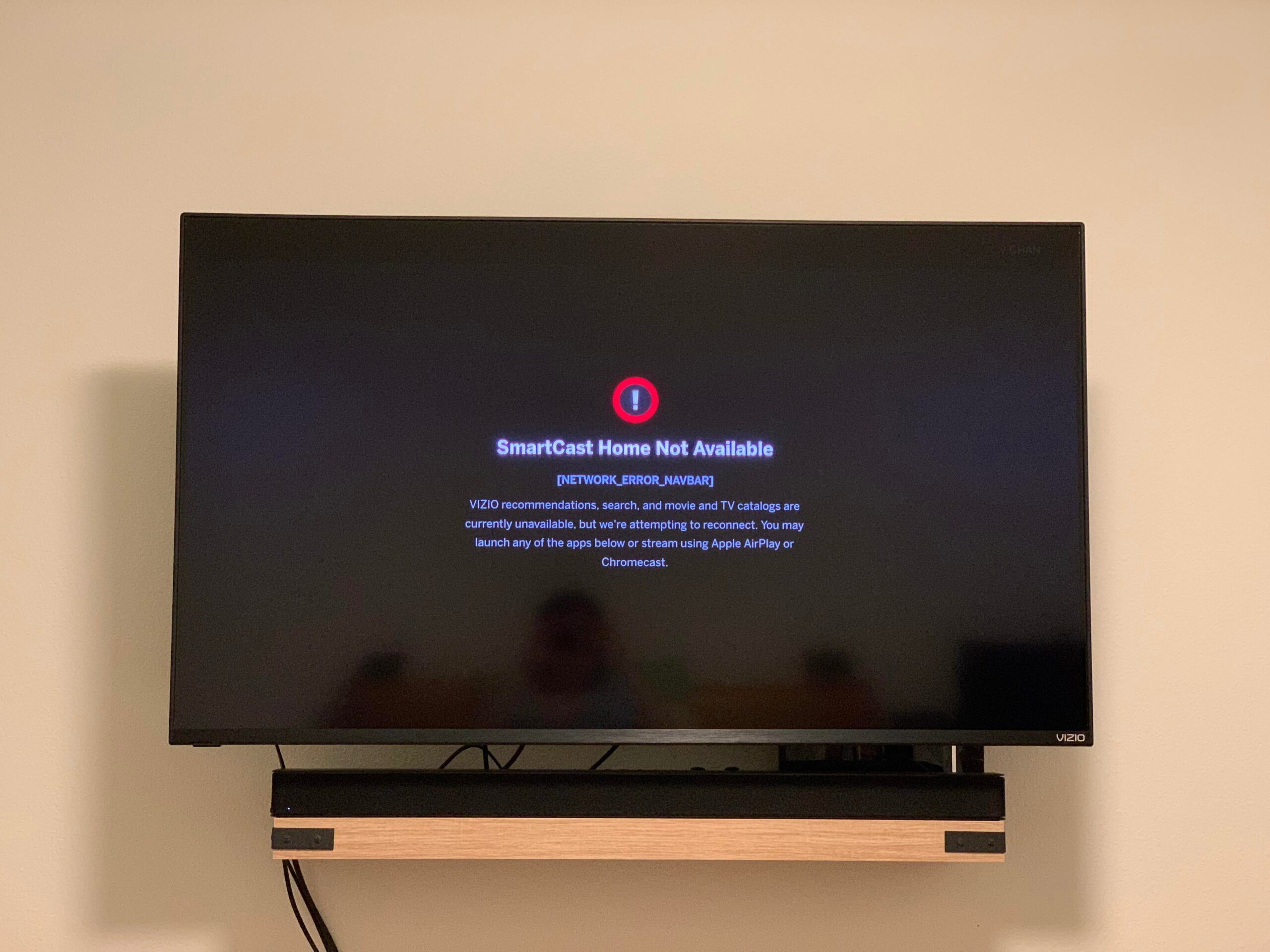 smartcast tv not available
