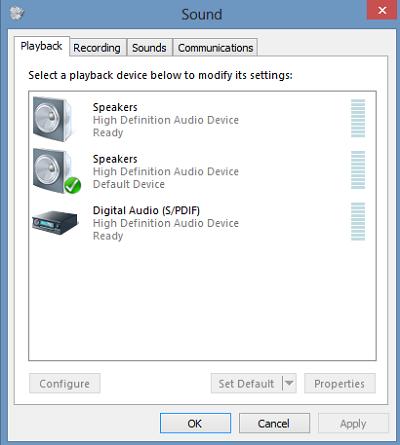 Select Playback Option