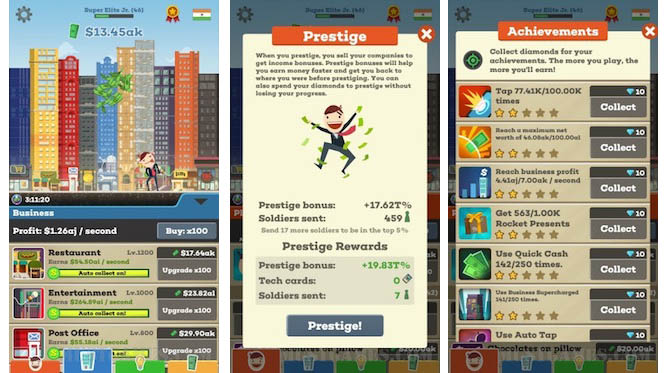 Tap Tycoon Game Play