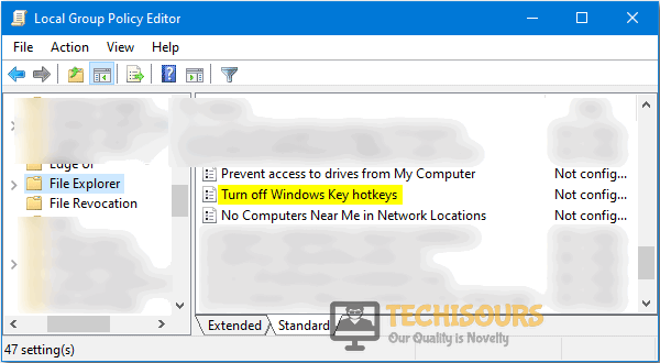 Turn OFF Windows keys Hotkeys