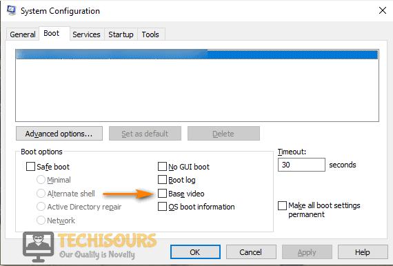Checkmark the Base Video Option