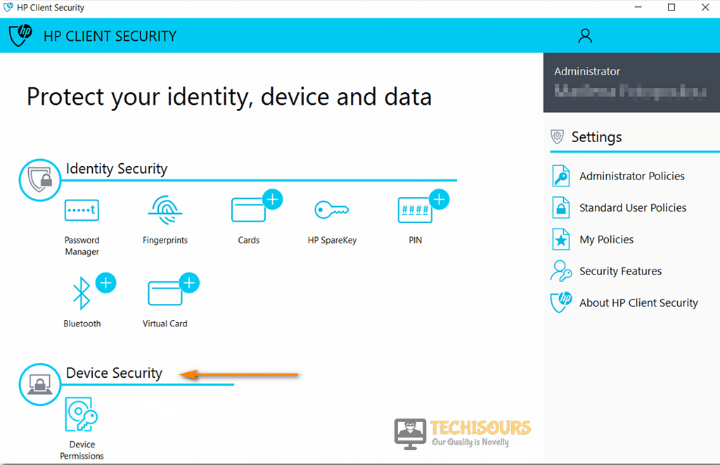 Choose device security to fix you don't currently have permission to access this folder issue