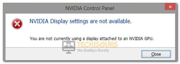 You are not Currently Using a Display Attached to an Nvidia GPU