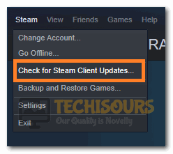 Checking for Steam Client Updates