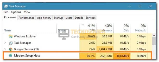 Modern Setup Host High CPU Usage