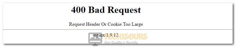 Bad Request Header or Cookie too Large Error