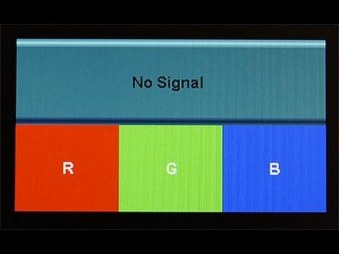VGA no Signal Error