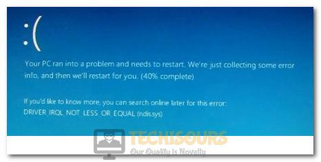 ndis.sys BSOD error on Windows 10