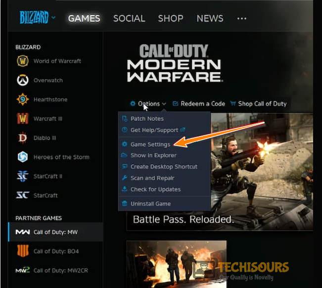 Choose Game Settings