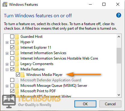 Uncheck Windows Media Player to fix Digital TV Tuner Device Registration Application