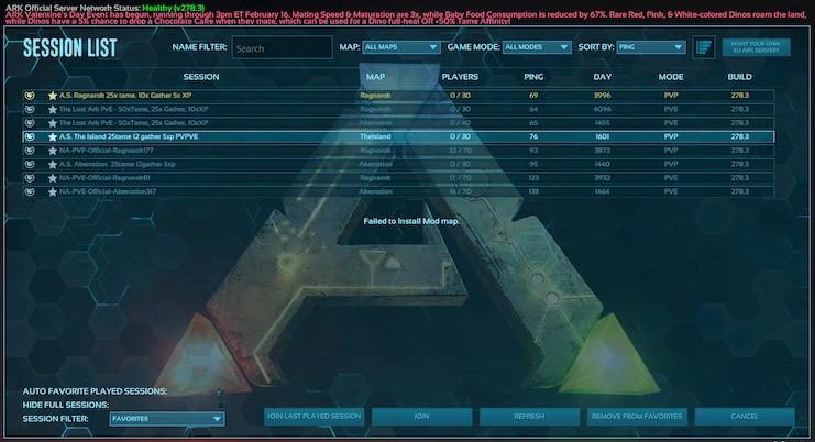 ark failed to install mod map