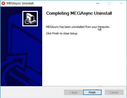 Uninstall MEGA to fix Mega.nz wants to Store Files on this Device