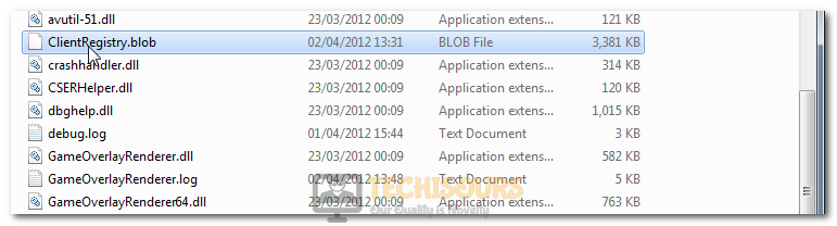 Deleting the Client Registry Blob File to fix Steam is having trouble connecting to the Steam servers