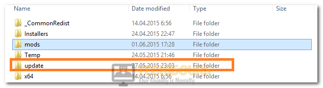 Pasting the Files inside the Updates folder to fix Script Hook V Critical Error