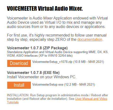 Download Voiceemeter