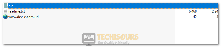 Opening the BIN folder to fix Script Hook V Critical Error