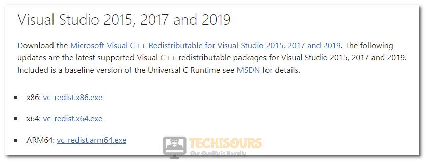 Downloading Proper Visual Studio C++ Software from Microsoft Website