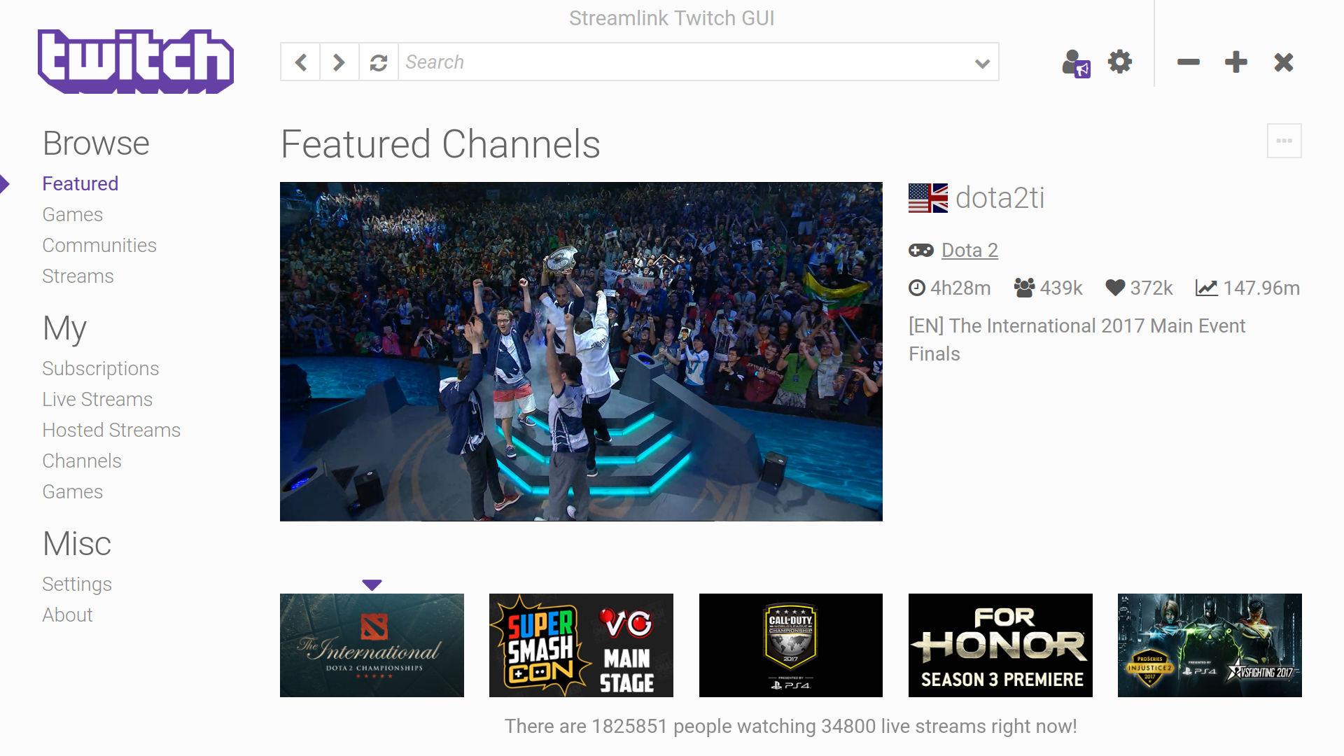 Run Streamlink to fix adblock doesn't work on twitch issue