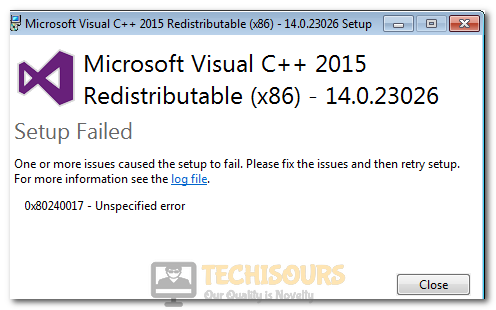 0x80240017 Unspecified Error