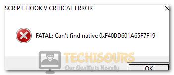 Script Hook V Critical Error