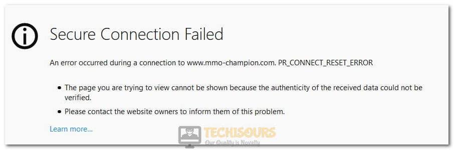 PR_CONNECT_RESET_ERROR