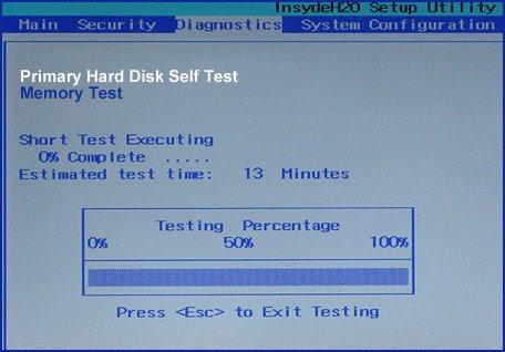 Perform Hard Drive Smart Test to fix Dell Error Code 2000-0142