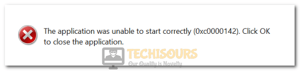 The Application was Unable to Start Correctly Error 0xc0000142
