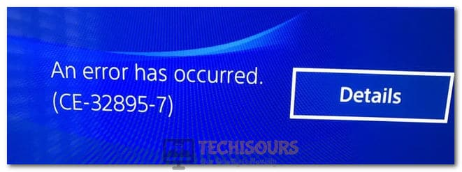 PS4 CE-32895-7 Error